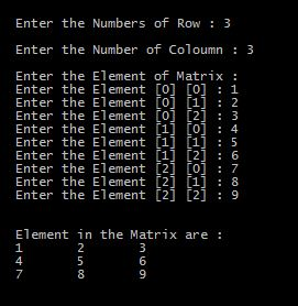 Program in C to Add all element of 2D Array with output
