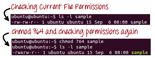 Absolute or Numeric Changing file permissions Mode in linux